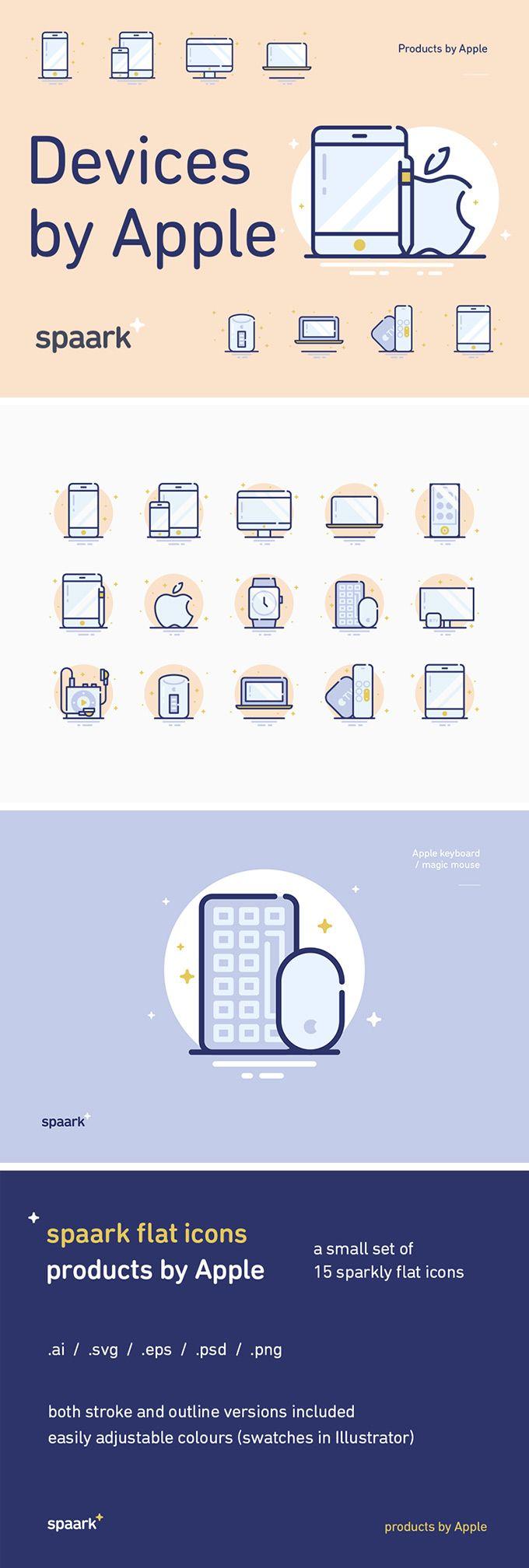 15 Apple Devices Icons #pixelbuddha