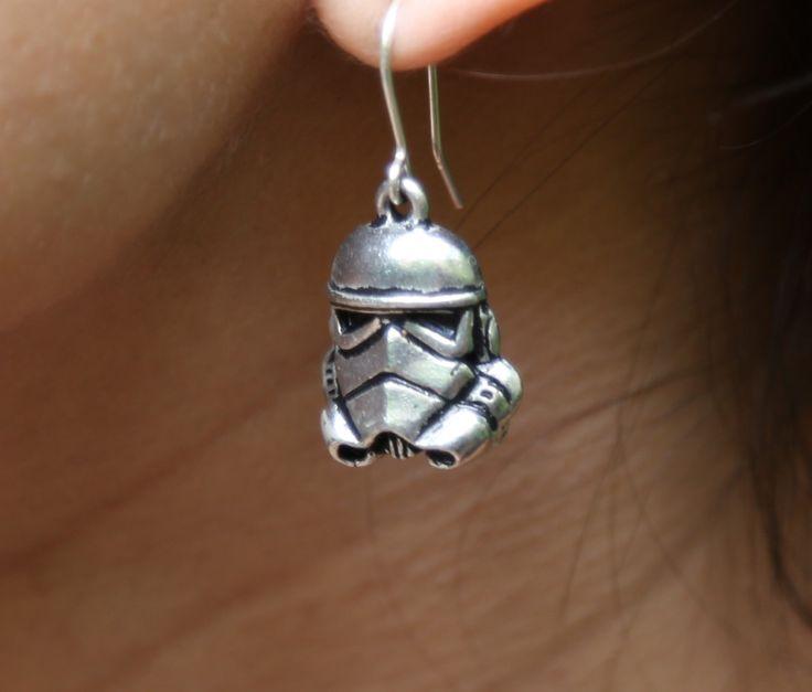 Star Wars 'Storm Trooper' Silver Earrings by UrbanSpecies on Etsy https://www.etsy.com/listing/248481973/star-wars-storm-trooper-silver-earrings