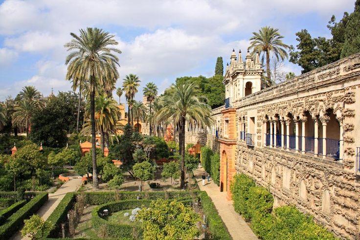 Königspalast Alcázar in Sevilla   andalusien 360°
