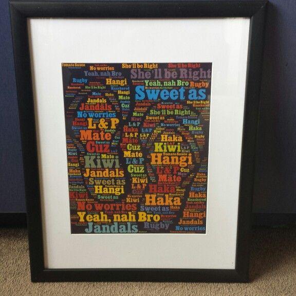 8x10 print.  11x14 frame $38 NZD