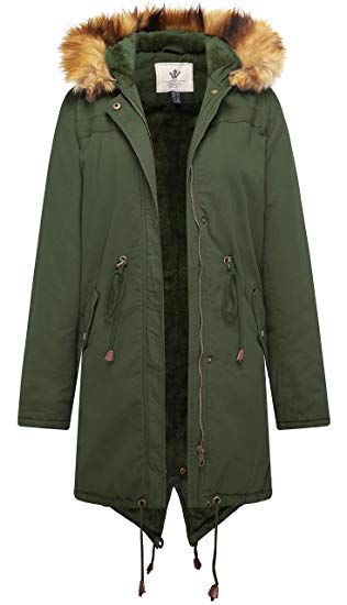New WenVen Women s Mid Length Hooded Sherpa Lined Parka Jacket online    69.99  allproclothing d5c6b27b02fb