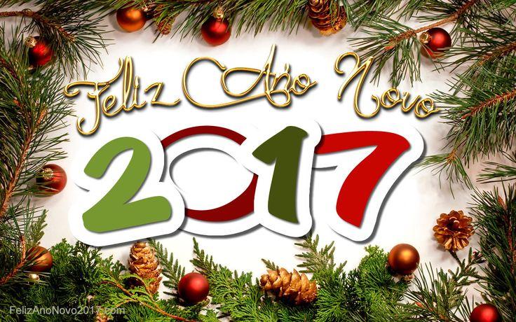 Imagem Feliz Ano 2017 com decorações do Natal
