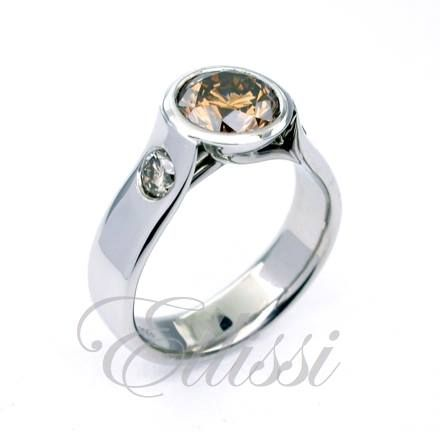 Another of the C7 #Cognac #diamonds ... super smooth design. We made one just like this for a vet. It needed to be really smooth. I am thinking it would be better just to take it off while working as you never know where a vets hand need to be put! #jewellery #melbourne #ring