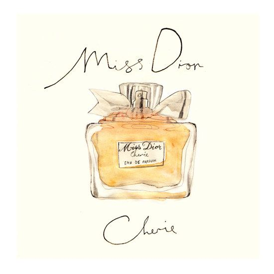 Miss Dior Cherie from original watercolour por mbaileyillustrations, $17.00
