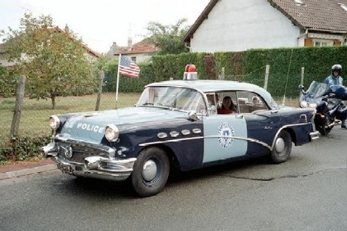 Massachusetts State Police 1956 Buick Antique Police