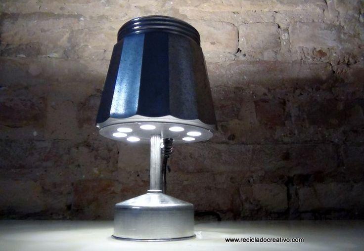 Lampara cafetera italiana – Lamp Bialetti coffee maker