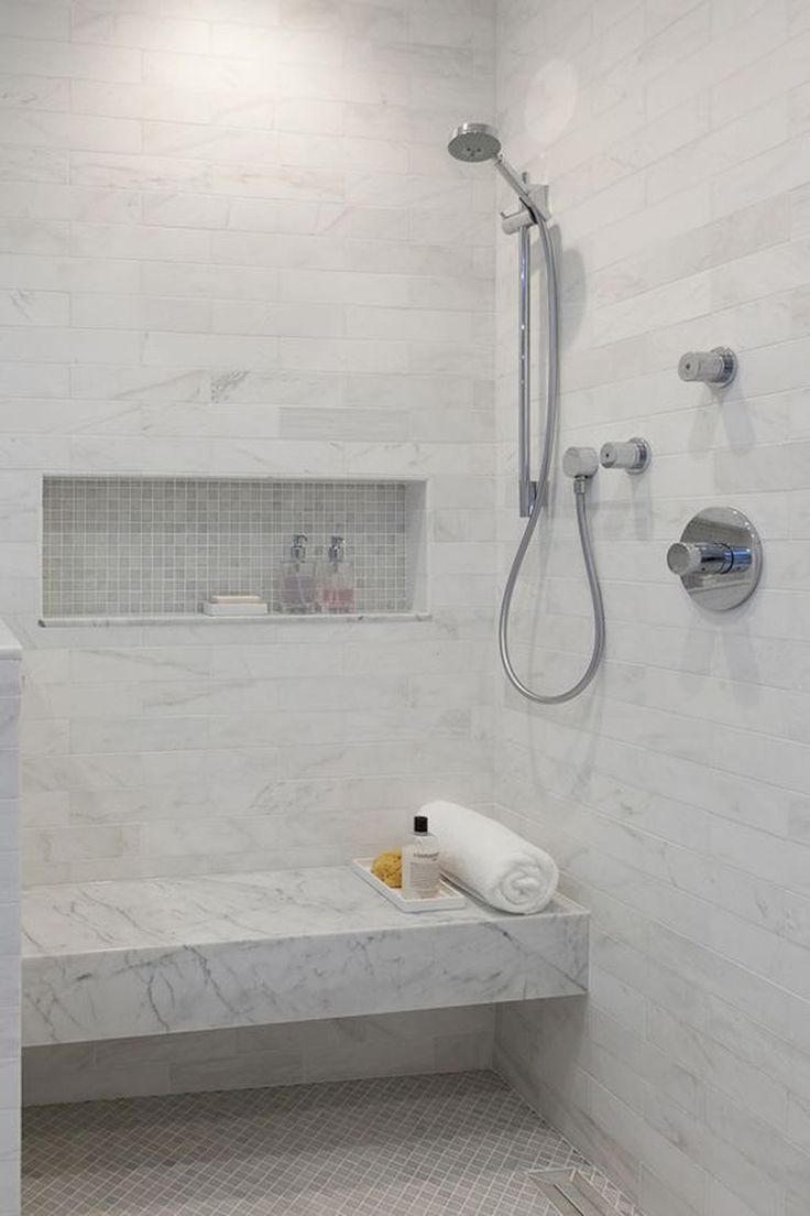 Best 25 White Tile Shower Ideas On Pinterest White