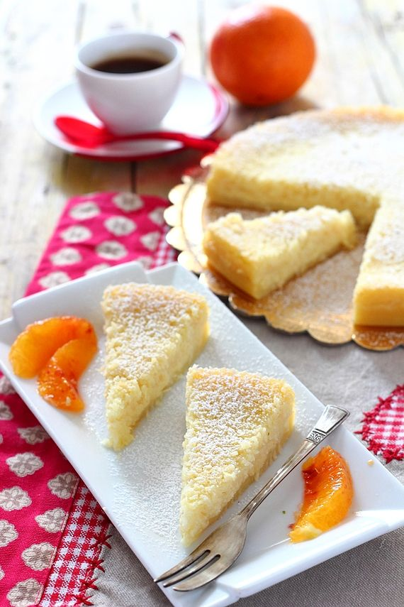 Torta impossibile all'arancia