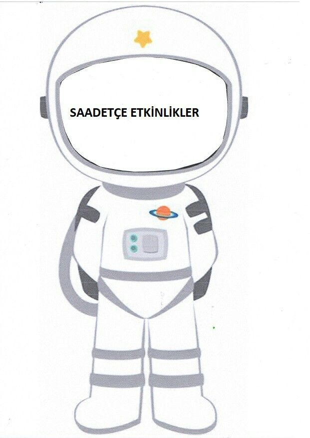 Astronot Boyama Sayfalari Astronot Okul Oncesi