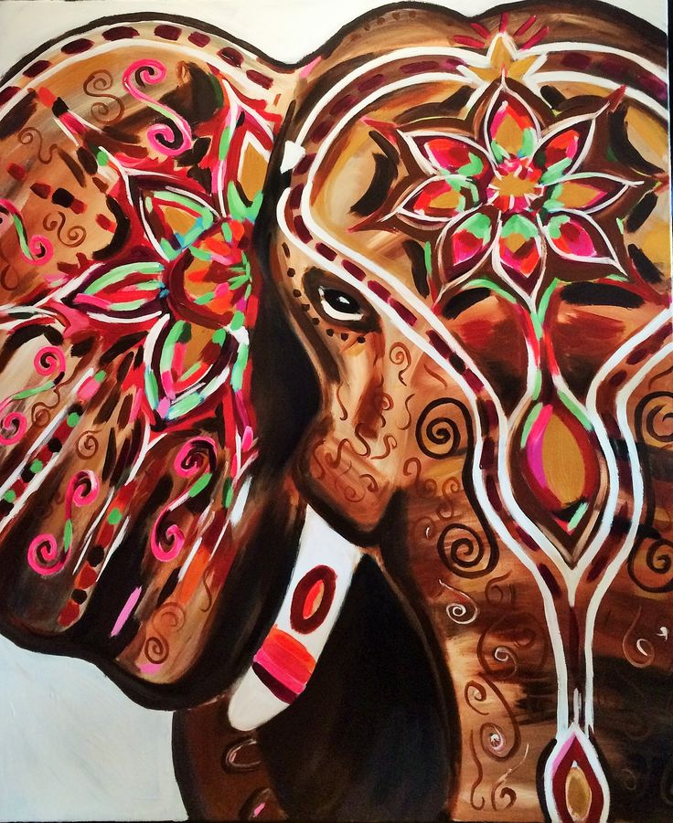 red traditional elephant - photo #29