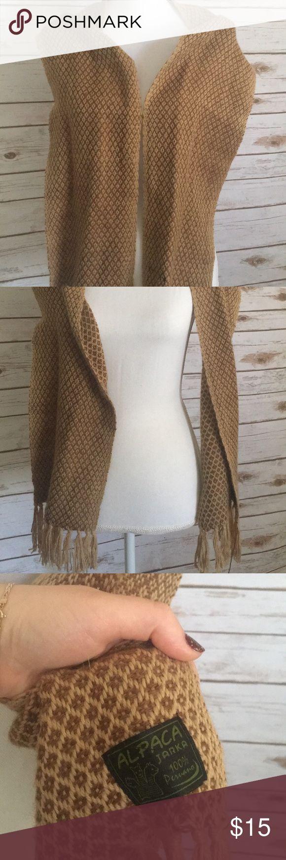 Alpaca scarf Alpaca scarf from Peru no damage perfect condition Accessories Scarves & Wraps