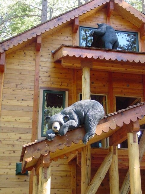 cabin bears just hangin' a round