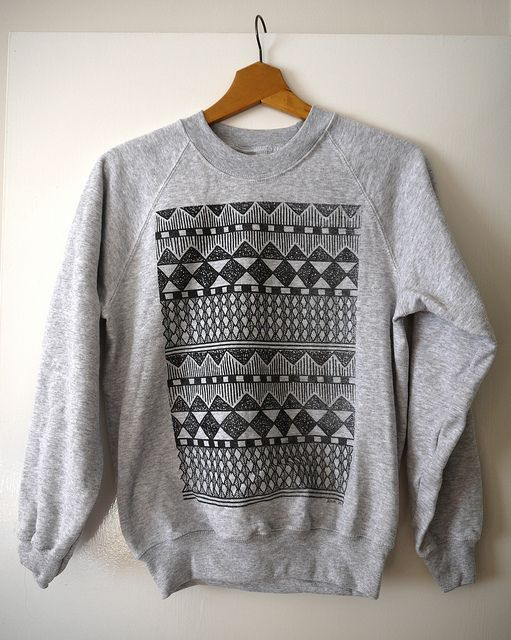 ComfyPattern, Fashion Style, Clothing, Closets, Crewneck, Over Sweaters, Sweaters Weather, Grey, Tribal Prints