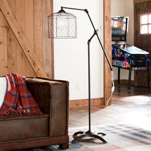 Vintage Floor Lamp (PBteen) $249.00 #Industrial: Living Rooms Lights, Home Products, Vintage Floors, Vintage Wardrobe, Antiques Irons, Floors Lamps, Pbteen Vintage, Guest Rooms, Families Rooms