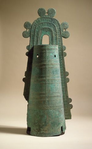 Bell (dotaku), late Yayoi period (ca. 4th century B.C.–3rd century A.D.), 1st–2nd century Japan | The Metropolitan Museum of Art