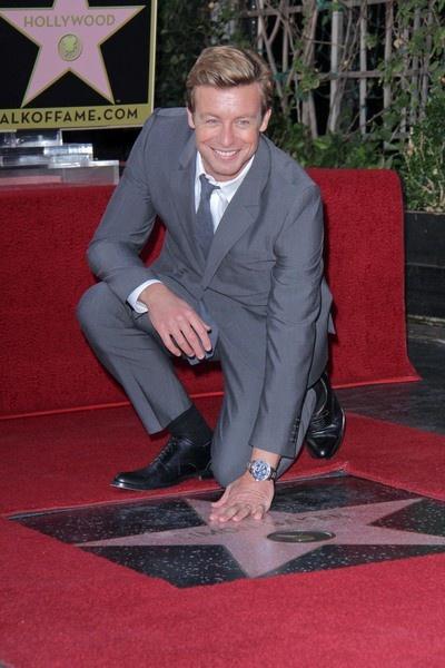 Launceston's Simon Baker. Honoured on the Hollywood Walk of Fame