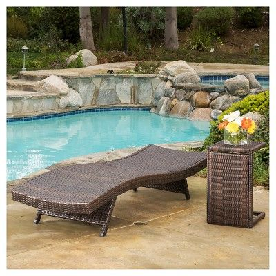 Salem 4 Piece Wicker Lounges with C-shaped Wicker Tables - Brown - Christopher Knight Home