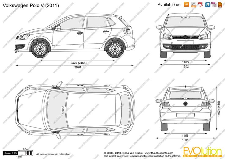 Image result for vw polo 2011 outline
