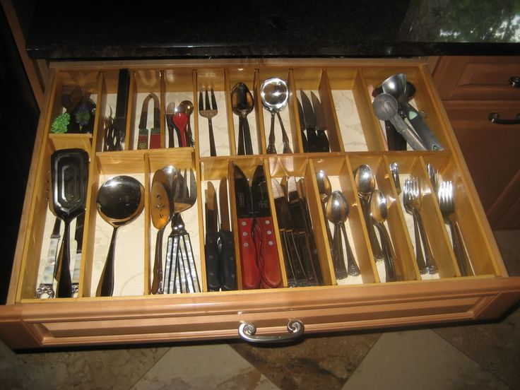 Lee Valley Drawer Dividers In Action Kitchen Utensil