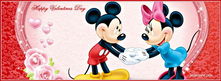 Valentine Mickey & Minnie Facebook Covers, Valentine Mickey & Minnie FB Covers, Valentine Mickey & Minnie Facebook Timeline Covers, Valentine Mickey & Minnie Facebook Cover Images