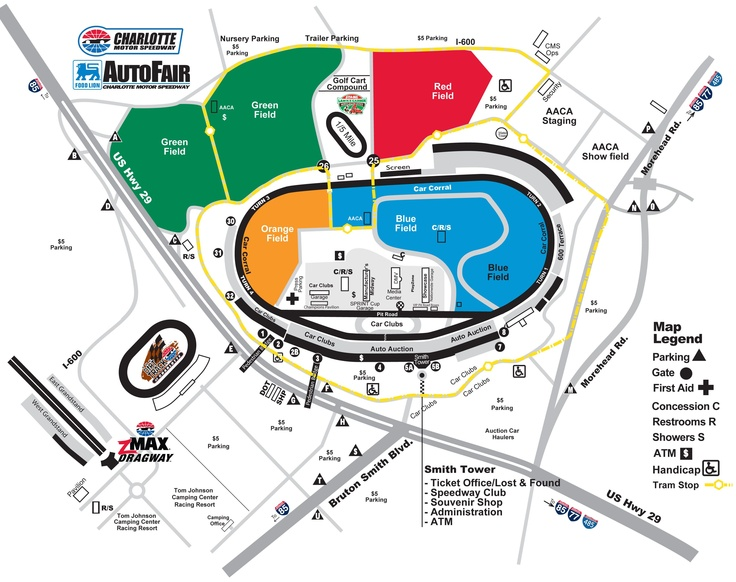 105 best images about nascar tracks on pinterest for Map of charlotte motor speedway