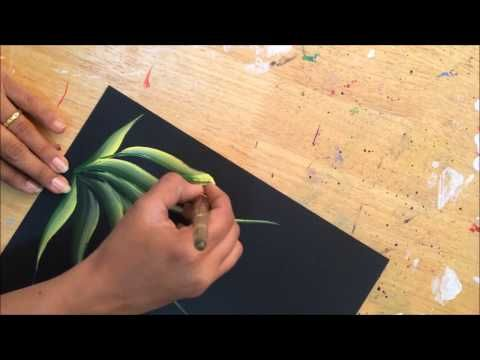 One Stroke Painting Tutorial- Florals With Some Tips & Tricks - YouTube
