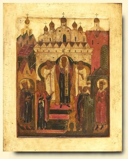 Elevation of the Cross - exhibited at the Temple Gallery, specialists in Russian icons