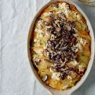Wild Mushroom and Root Vegetable Gratin | no rutabagas; otherwise, delicious thanksgiving side