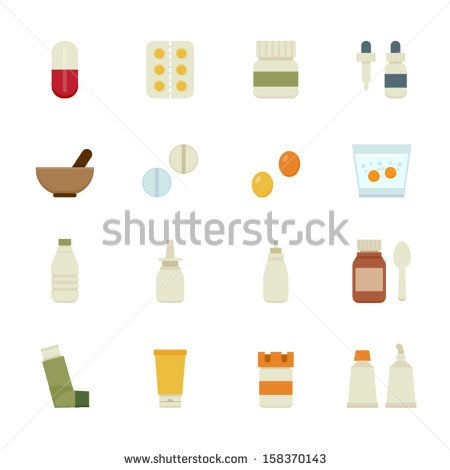 Medical Icons and Pharmacy Icons with White Background - stock vector