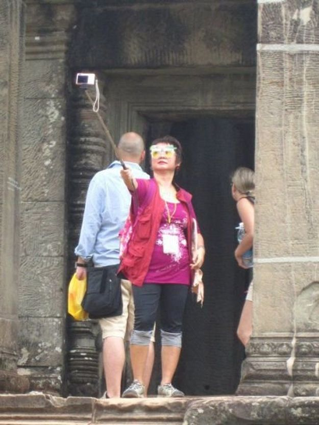 This woman taking a selfie. | 42 People You Won't Believe Actually Exist