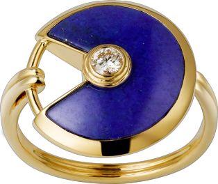Amulette de Cartier Ring SM Gelbgold, Lapislazuli, Diamant