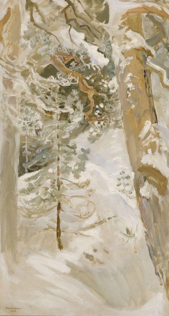 Akseli Gallen-Kallela (Finnish, 1865-1931), Talvimaisema / Winter Landscape, 1900.