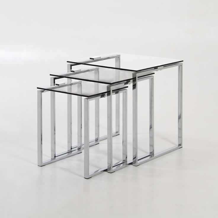 City Nesting Tables made by Elements. $199Glasses Nests, Clear Glasses, Tables Tops, Cities Nests, Lounges Furniture, Furniture Design, Katrin Nests, Glasses Tables, Nests Tables