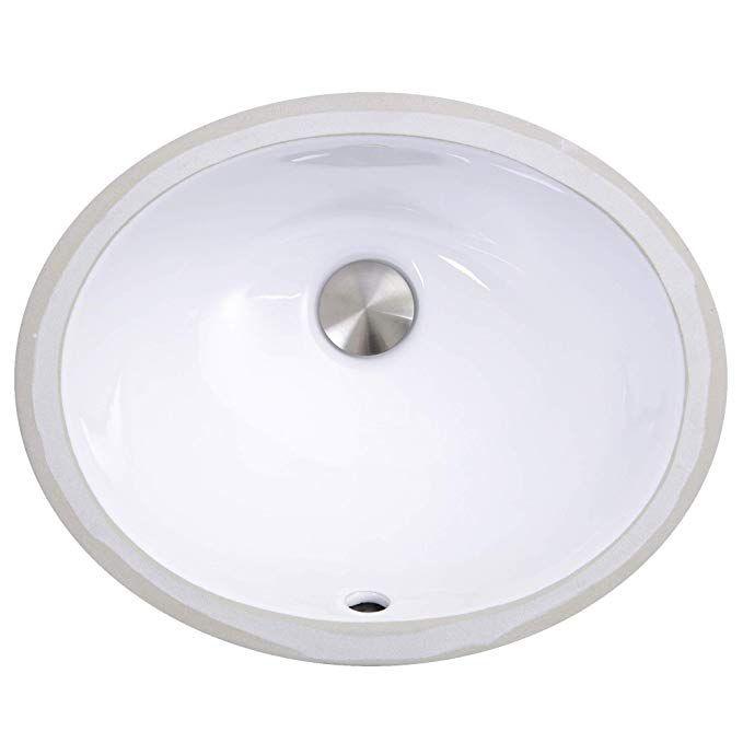 Nantucket Sinks Um 13x10 W 13 Inch By 10 Inch Oval Ceramic Undermount Vanity Sink White Bath Sinks Amazon Com Small Bathroom Sinks Vanity Sink Sink