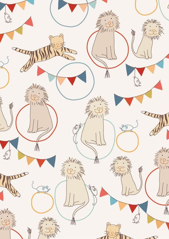 Little Cube Lion and Tiger Wallpaper, Remodelista
