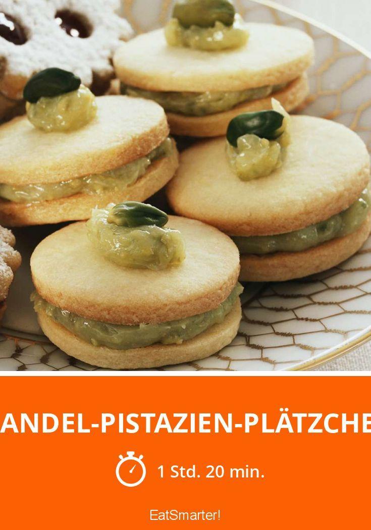 Mandel-Pistazien-Plätzchen - smarter - Zeit: 1 Std. 20 Min. | eatsmarter.de