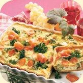 bunt & gesund - Brokkoli-Möhren-Quiche #Essen