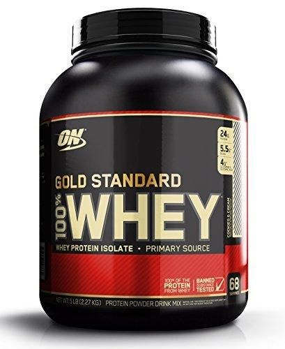 Optimum Nutrition Gold Standard 100% Whey Protein Powder Cookies and Cream 5 Pound