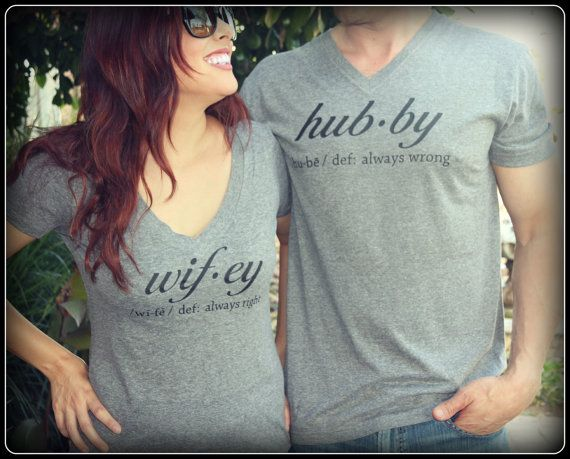 Hubby And Wifey Definition Shirt Hubby Shirt by TheStickerPlace