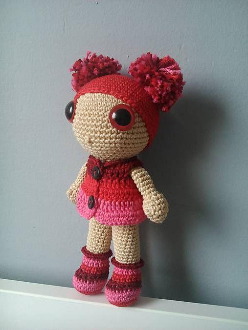 Crochet doll kaizerka / Bábika Červaná čiapočka