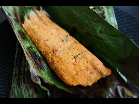 OTAK-OTAK (SPICY FISH PASTE IN BANANA LEAVES) with video