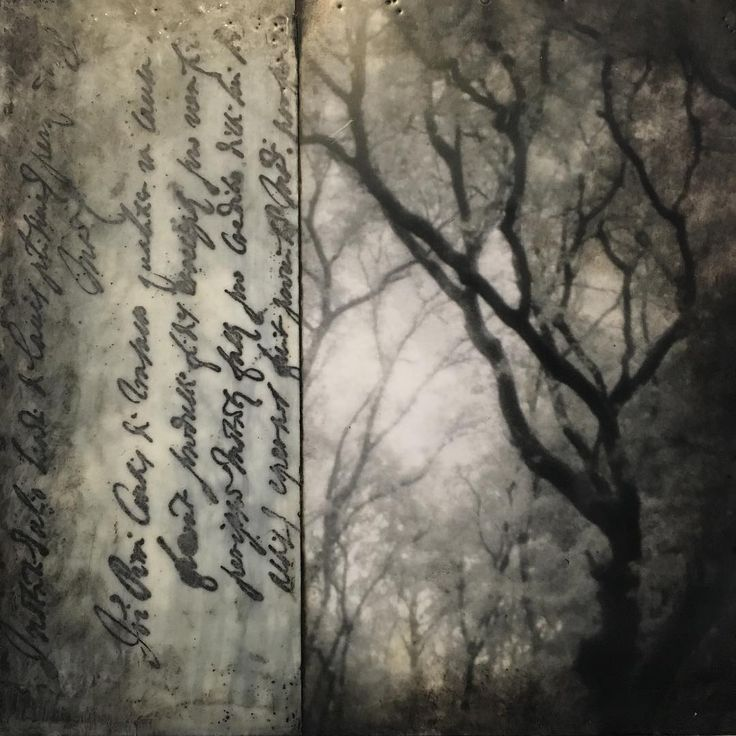 """""""Traveler, there is no path, paths are made by walking."""" - Spanish poet Antonio Machado This photo encaustic work includes an image from an oak forest in Tuscany along with a fragment of Italian text from an ancient document. Learning to create personal photo encaustic images is part of what we'll be sharing in our Creative Excursion workshops in Tuscany this fall. The creative path, like a walking path is achieved through doing. Come join us and enjoy your own creative path!"""