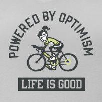 Always happy when riding a bike!