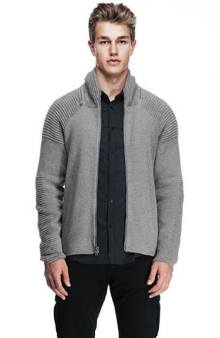 Ottoman Stitch Zip Front Hoodie - Sale - Mens - Armani Exchange