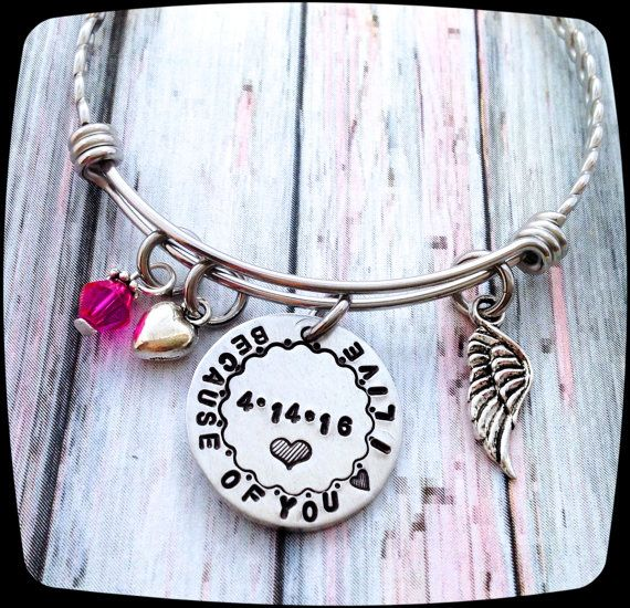 Organ Donor Gift, Living Donor Gift, Cancer awareness bracelet, Kidney donor, Liver donor, Bone Marrow donor, Heart, Cancer Healing gift