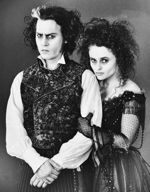 Johnny Depp & Helena Bonham Carter in my favorite movie/musical!