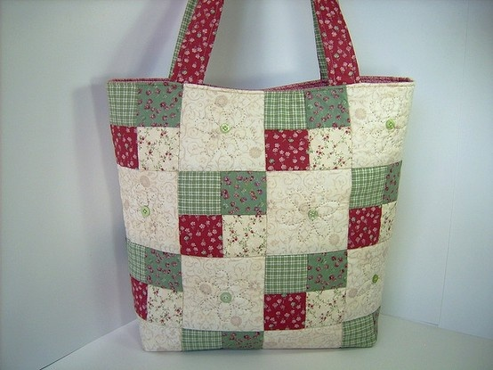 Spring Daisies Quilted Tote Bag by DashasCreations, via Flickr
