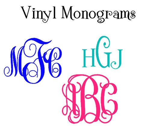 Custom Monogrammed Vinyl Decal 111 by KreweofDomesticus on Etsy, $3.00 Great for ice chests, glasses, coolers, phone cases, whatever you want to cute up!!