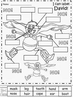 Free:  No David Labeling Sheet.  Freebie For A Teacher From A Teacher! Enjoy! fairytalesandfictionby2.blogspot.com