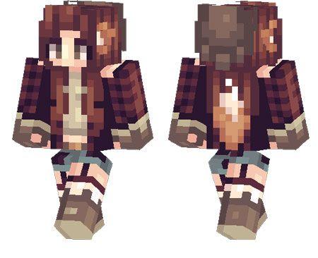 Foxy Girl skin for Minecraft PE